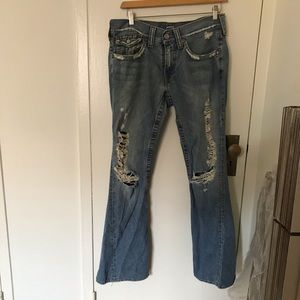 True Religion Joey fit distressed jeans